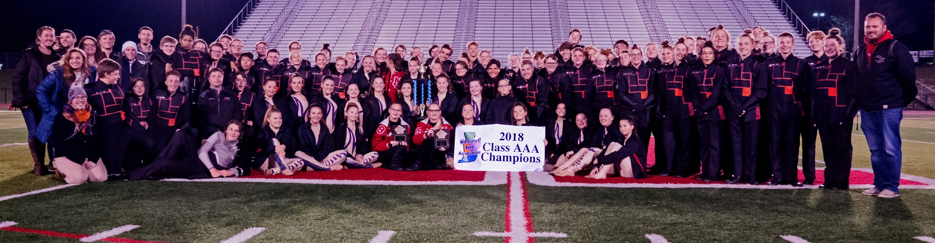 The New Palestine Marching Dragons earned the Class AAA Championship at the 2018 Mid-States Contest